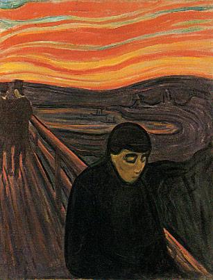 """""""Despair"""" by Edvard Munch (1894)."""