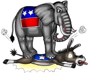 Republican winning - in results