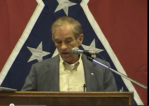 Ron Paul speaking at a Southern Historical Conference in Schertz, TX, on 29-30 August 2003