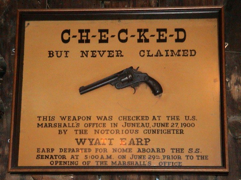On display at the Red Dog Saloon in Juneau; from Wikimedia Commons