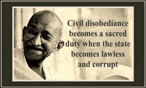 Ghandi's advice about civil disobedience
