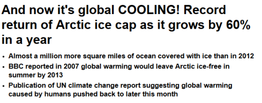 Daily News: global cooling
