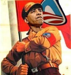 Obama and flag