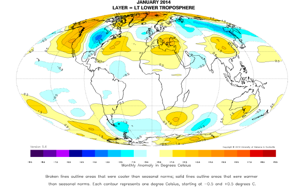 UAH Global Temperature Report: January 2014