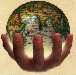 World in the palm of my hand