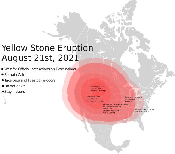 Yellowstone eruption of 2021