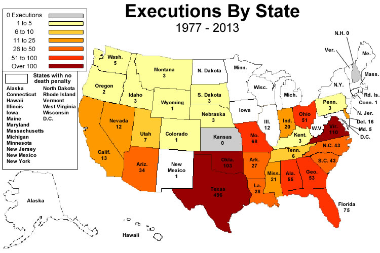 an introduction and an analysis of the religion in capital punishment in the united states Capital punishment is currently authorized in 31 states, by the federal government and the us military in recent years, new mexico (2009), illinois (2011), connecticut (2012) and maryland (2013) have legislatively abolished the death penalty, replacing it with a sentence of life imprisonment with .