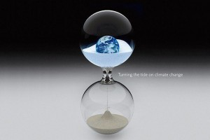 An hourglass for the world