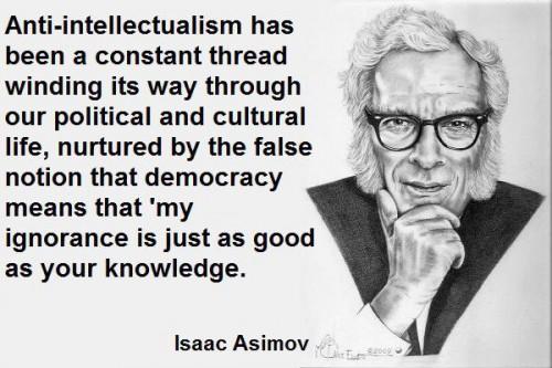 Asimov: antiintellectualism