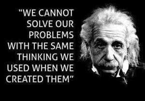 Einstein about problems