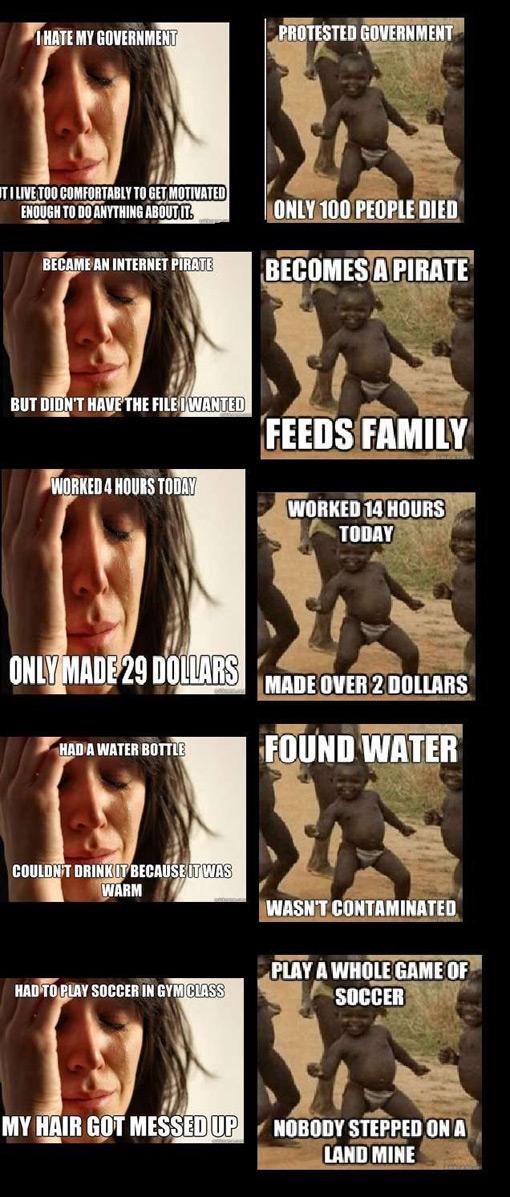 First World vs Third World Problems