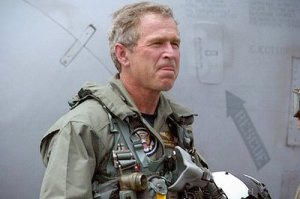 George W. Bush on the USS Abraham Lincoln