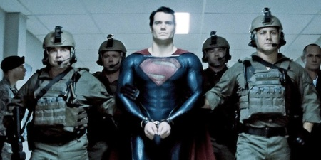 Superman in handcuffs