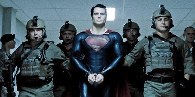 Superman in handcuffs