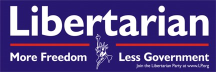Libertarian: more freedom, less government