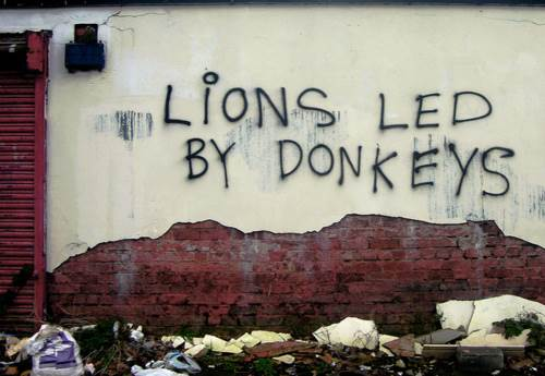 Lions led by donkeys