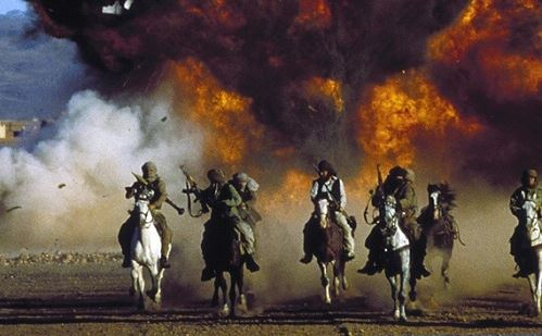 """Mujahadeen riding to the rescue in """"The Living Daylights"""""""