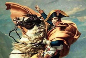 """""""Napoleon Crossing the Alps"""" by Jacques-Louis David (1800)"""