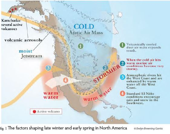 North American weather in early 2015