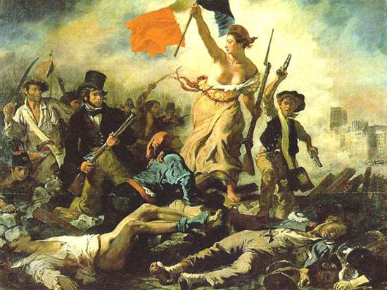 """Liberty Leading the People"", Eugène Delacroix (1830)."