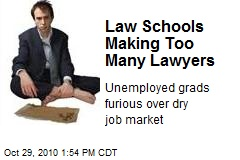 Law schools making too many lawyers.