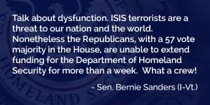 Senator Sanders on ISIS