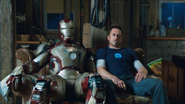 Iron Man and  Robert Downey Jr as Tony Stark