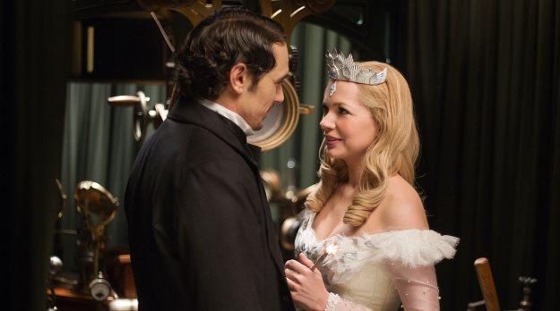 James Franco and Michelle Williams as Oz and Glinda