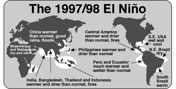 Map of 1998 El Nino