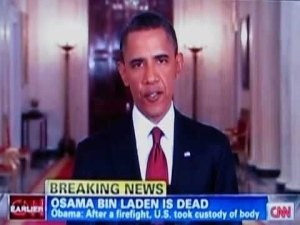 Obama officially announces bin Laden's death