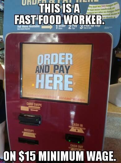 Fast Food Minimum Wage Increase