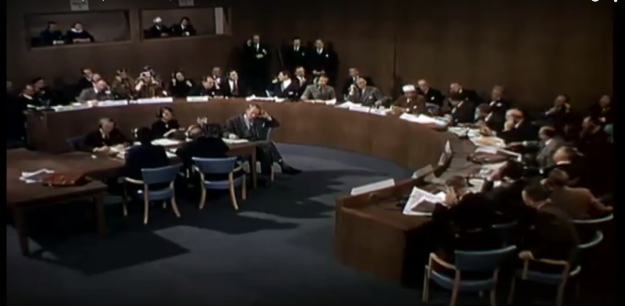 """Presenting at the UN. From """"When Worlds Collide"""" (1951)."""