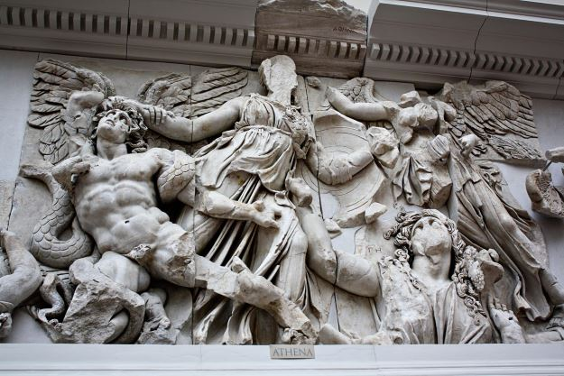 Athena in the Pergamon Altar