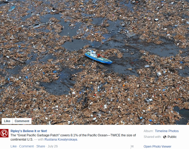 Big Garbage Island Pacific Ocean