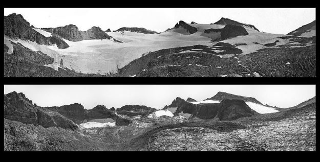 Lyell Glacier melting: 1883 - 2015