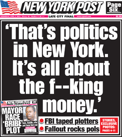 NY Post: NY corruption on the front page