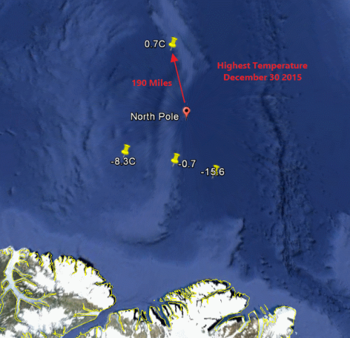 Buoy locations on 30 December 2015