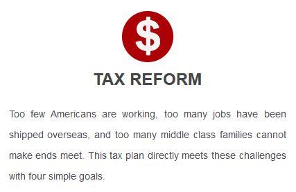Trump platform: Tax reform