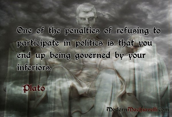 Plato: governed by your inferiors
