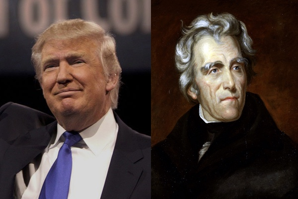 Two populists: Andrew Jackson and Donald Trump