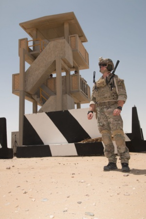 Mathew Rainey, USAF, in Kuwait