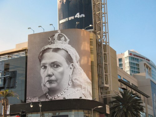 Queen Clinton billboard