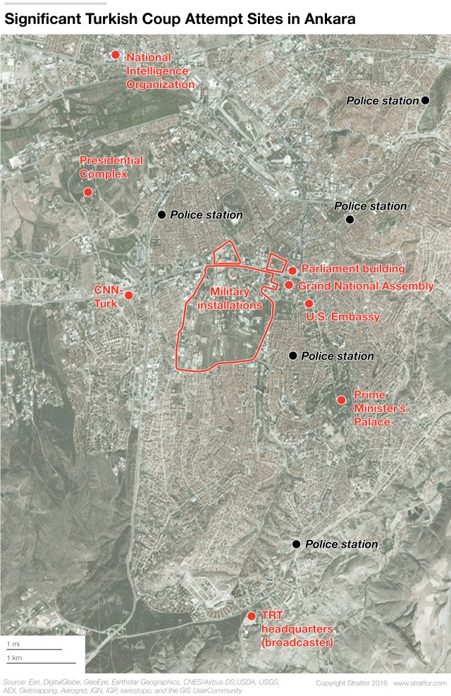Turkish Coup Attempt Sites