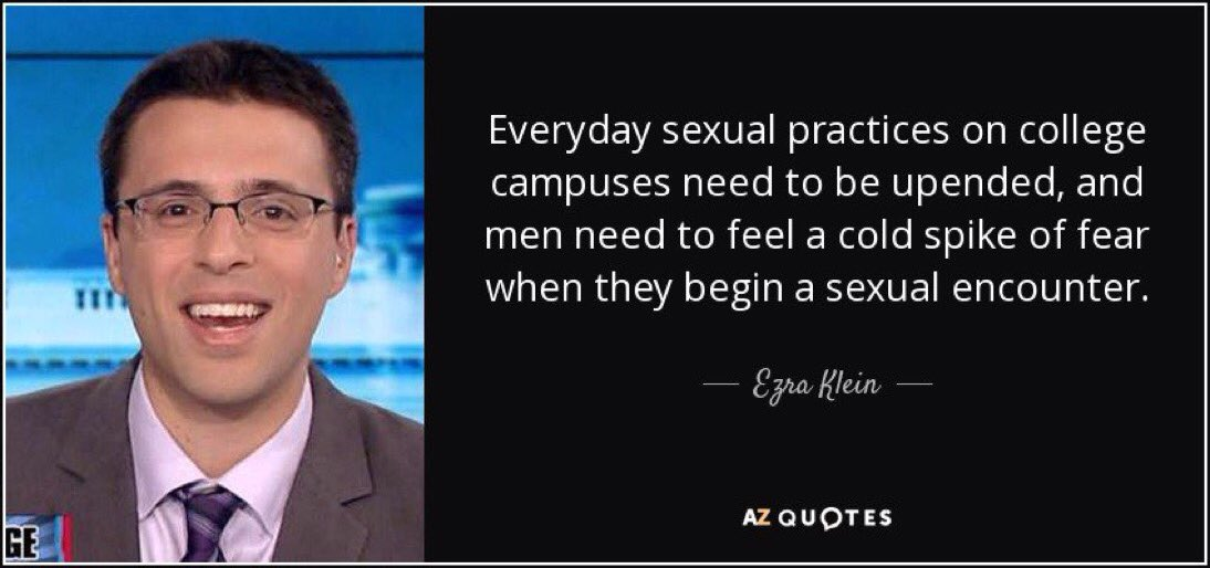 Ezra Klein advocates sexual oppression
