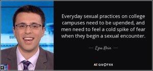 Ezra Klein advocates sexual oppression