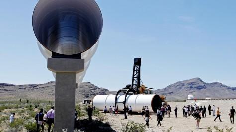 Transit tubes at Hyperloop One's test site near Las Vegas, NV.