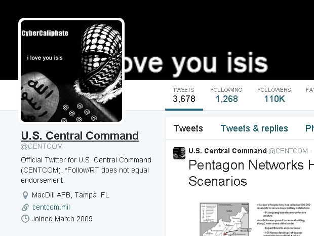 Central Command hacked by ISIS