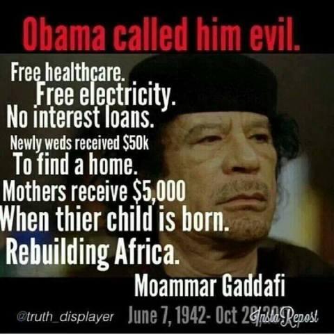 Gaddafi evil