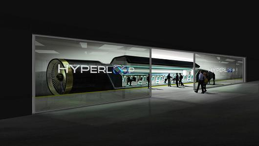 Hyperloop station