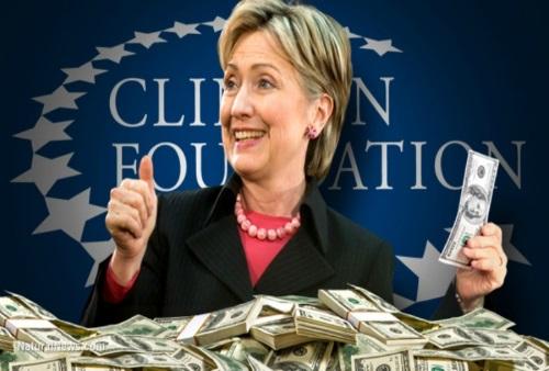 Hillary Clinton: foundation and money pile